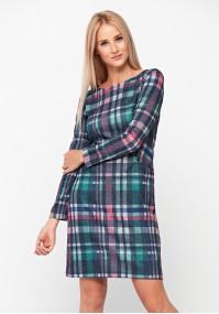 Kolorowa sukienka w kratkę