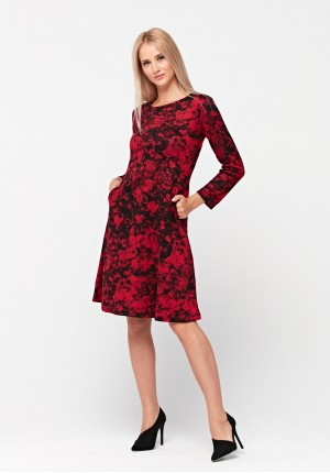 Flared dress with pockets