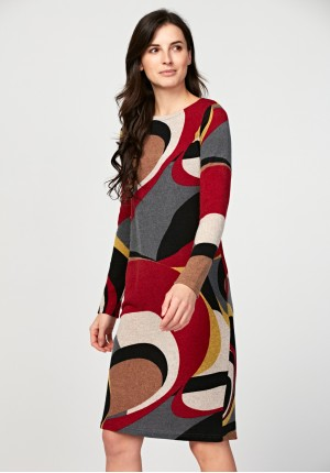 Simple dress with geometrical pattern