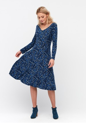 Dress with floral pattern