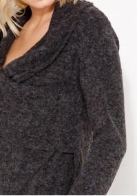 Sweterek z szalowym dekoltem