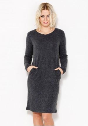Ciepła Sukienka z kieszeniami