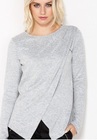 Grey Sweater with overlap