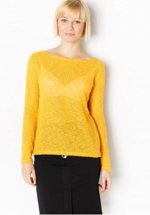 Ciemnożółty Sweterek Supełkowy
