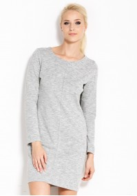Straight grey dress