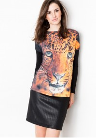 Blouse with tiger