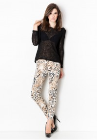 Pants with a snake motif