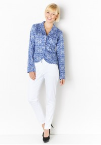 Blue Blazer with flowers