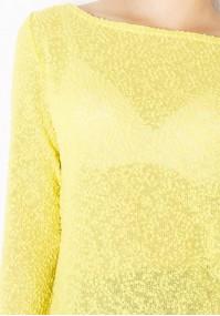 Jasnożółty Sweterek Supełkowy