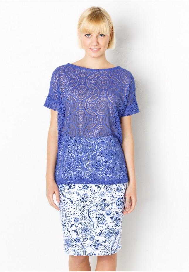Niebiesko-biała Spódnica
