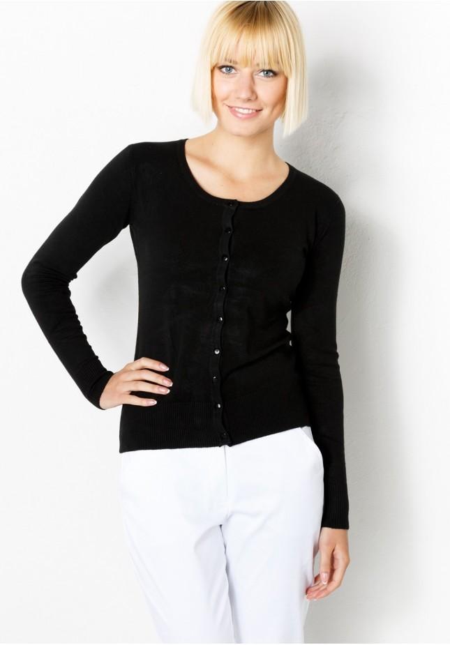 Klasyczny Czarny Sweter