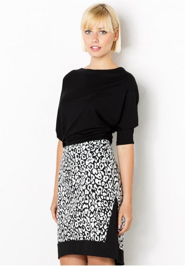 Biało-czarna Spódnica