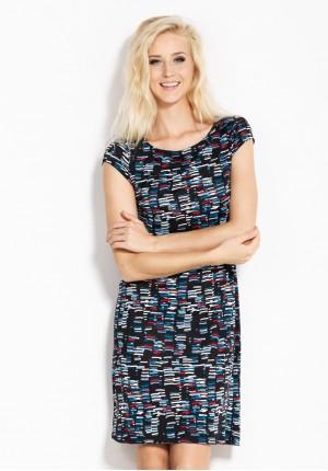 Sukienka 1582 (kolorowe paseczki)