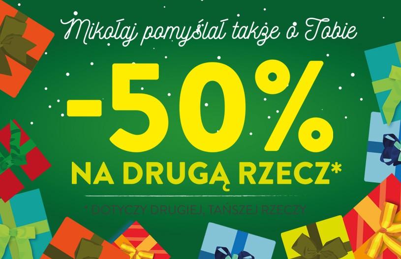 Rabat -50% na drugą rzecz